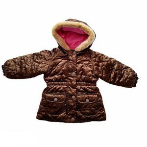 4/$30 OshKosh Girl Faux Fur Puffer Jacket 18 month